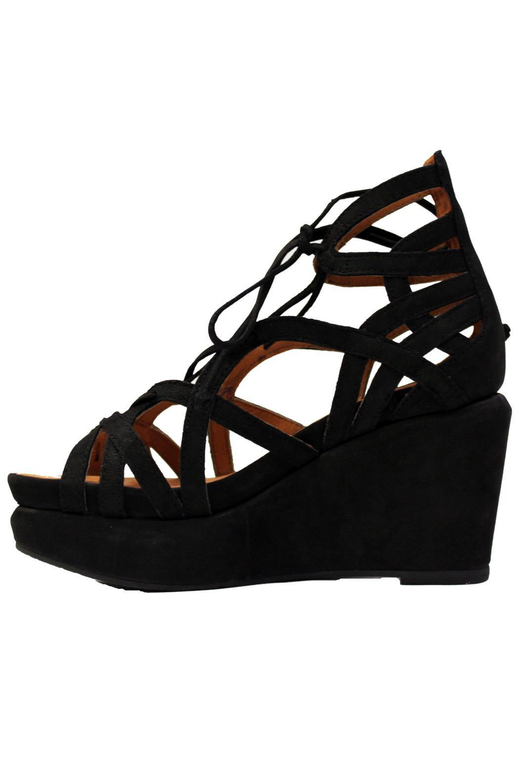 Gentle Souls Suede Wedge Sandal - Main Image