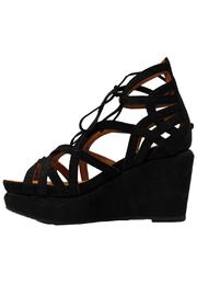 Gentle Souls Suede Wedge Sandal - Front cropped