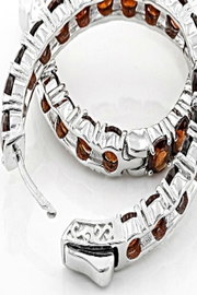 Lydia's Beryl Genuine Garnet Hoops - Product Mini Image