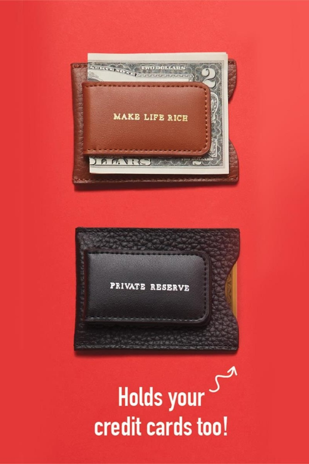 The Birds Nest GENUINE LEATHER MONEY CLIP/CARD CASE - Front Full Image