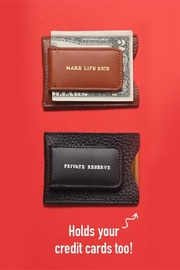 The Birds Nest GENUINE LEATHER MONEY CLIP/CARD CASE - Front full body