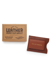 The Birds Nest GENUINE LEATHER MONEY CLIP/CARD CASE - Front cropped