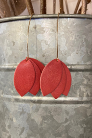 Amanda Blu Genuine Leather Petal Earrings - Product Mini Image