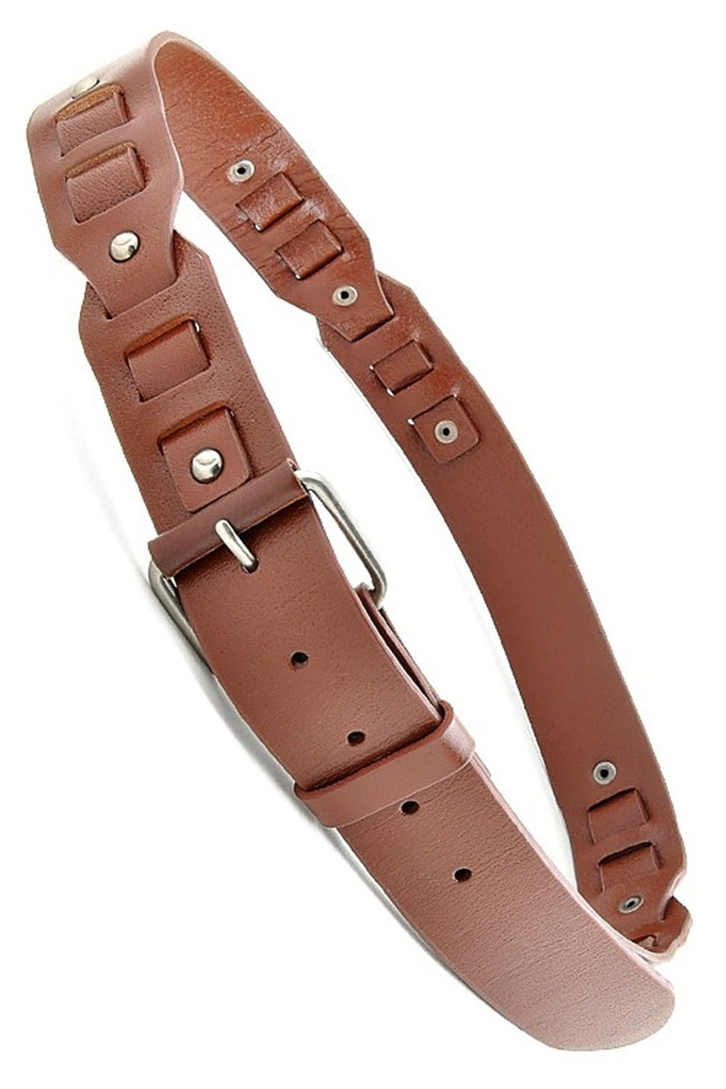 Anzell Genuine Leather Studded Belt - Main Image