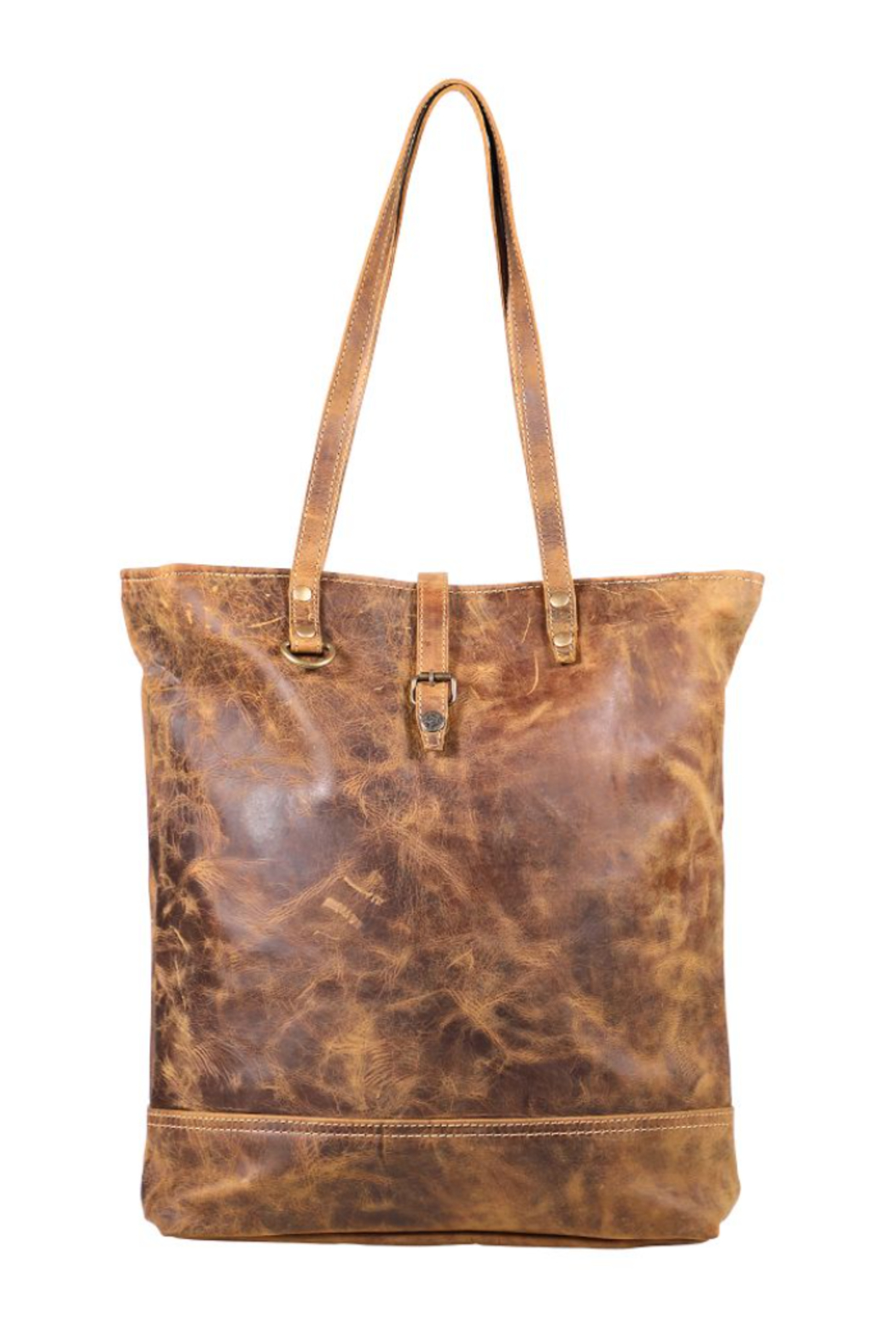 Myra bag  Genuine Leather Tote Bag - Front Full Image