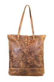 Myra bag  Genuine Leather Tote Bag - Front full body