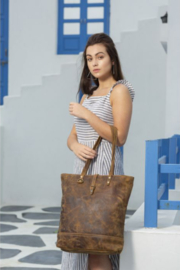 Myra bag  Genuine Leather Tote Bag - Front cropped