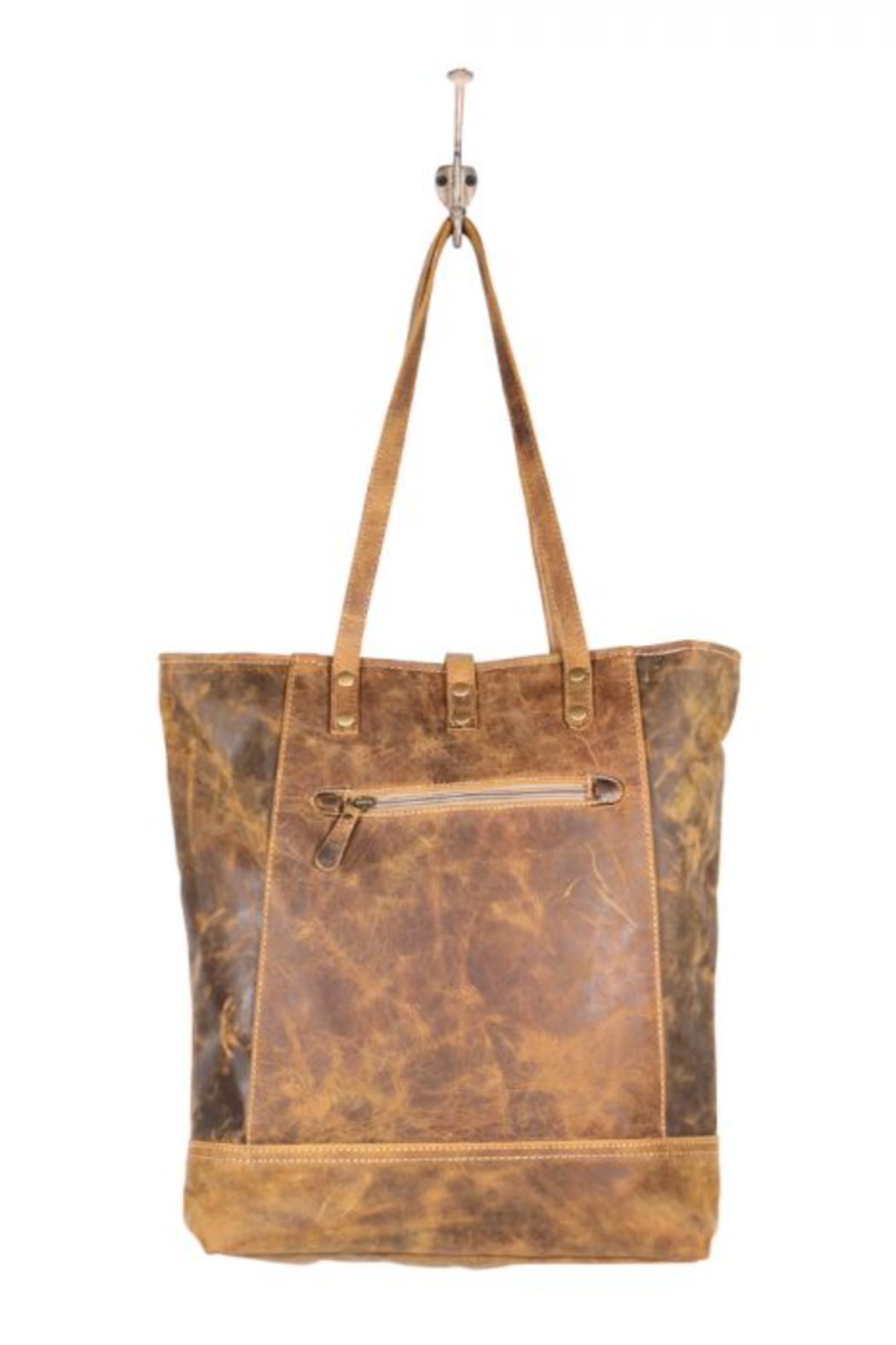 Myra bag  Genuine Leather Tote Bag - Back Cropped Image