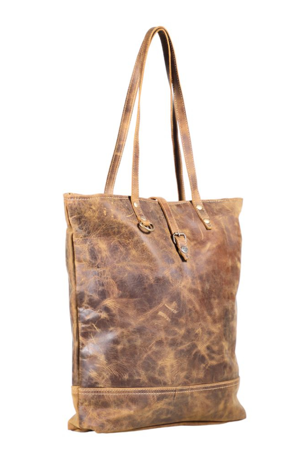 Myra bag  Genuine Leather Tote Bag - Side Cropped Image