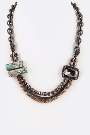 Nadya's Closet Genuine Stone & Crystal-Necklace - Front cropped