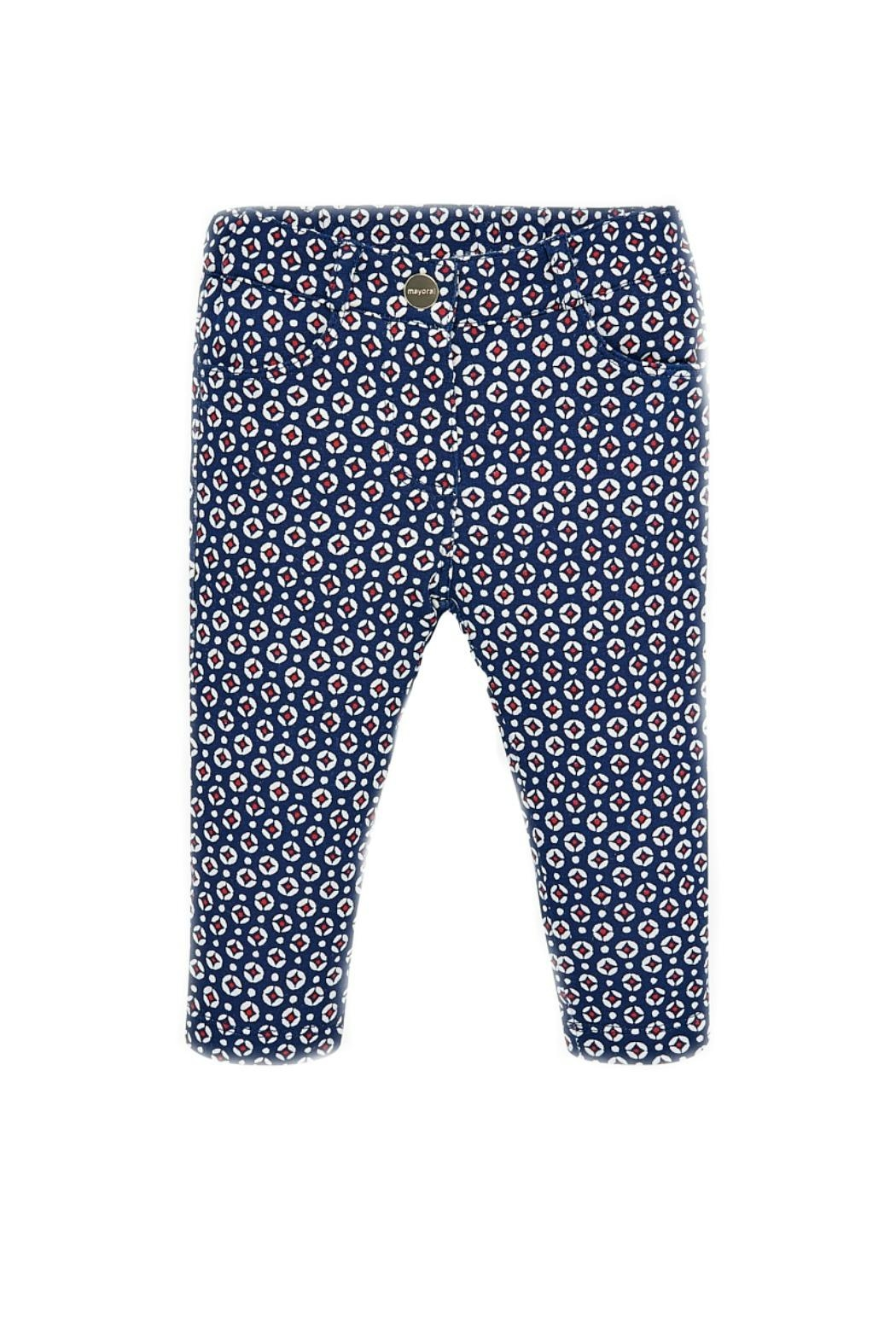 Mayoral Geo-Dot-Pattern Girls Trousers - Front Cropped Image