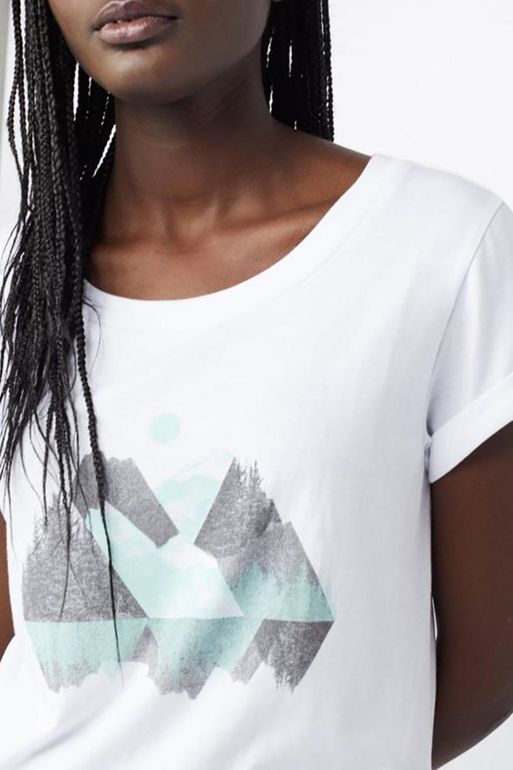 tentree Geo Mountain Tee - Side Cropped Image