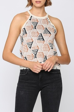 Fate geo print halter neck sweater - Product List Image