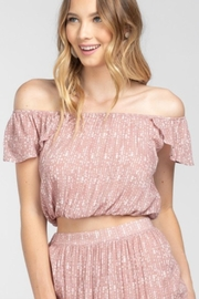 Everly Geo-Print Off-Shoulder Top - Product Mini Image