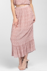 Everly Geo-Print Ruffle Maxi-Skirt - Product Mini Image