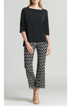 Clara Sunwoo Geo Rectangle Print Center Seam Kick Front Ankle Pant - Product List Image