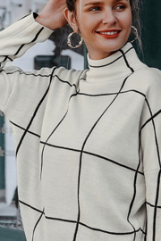 Esley  Geo turtleneck sweater - Front cropped