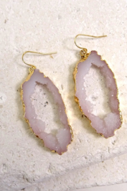Wall to wall  Geode Inspired Earrings - Product Mini Image