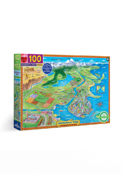 Eeboo Geographical Terms 100 Piece Puzzle - Product Mini Image