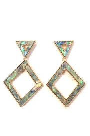 Wona Trading Geometric Abalone Earrings - Front cropped