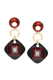 Lets Accessorize Geometric Acetate Drop-Earrings - Product Mini Image