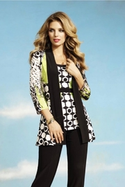 Frank Lyman Geometric Animal Print Jacket - Product Mini Image