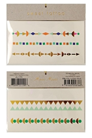 Meri Meri Geometric Color Tattoos - Front cropped