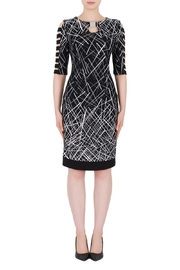 Joseph Ribkoff Geometric Cutouts Dress - Product Mini Image