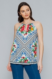 Flying Tomato Geometric Floral Top - Product Mini Image