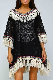 Velzera Geometric Fringe-Accent Dress - Product Mini Image