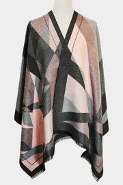 Embellish Geometric Gray Shawl - Product Mini Image