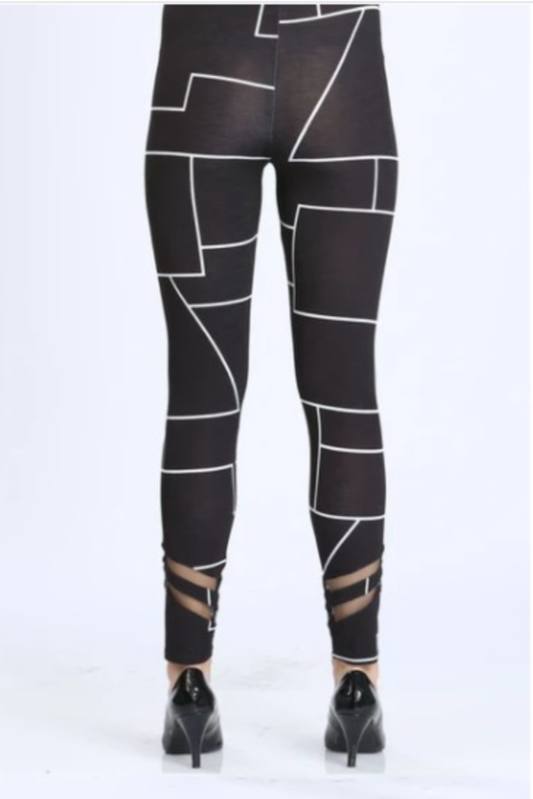 IC Collection Geometric Leggings - Side Cropped Image