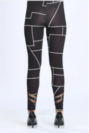 IC Collection Geometric Leggings - Side cropped
