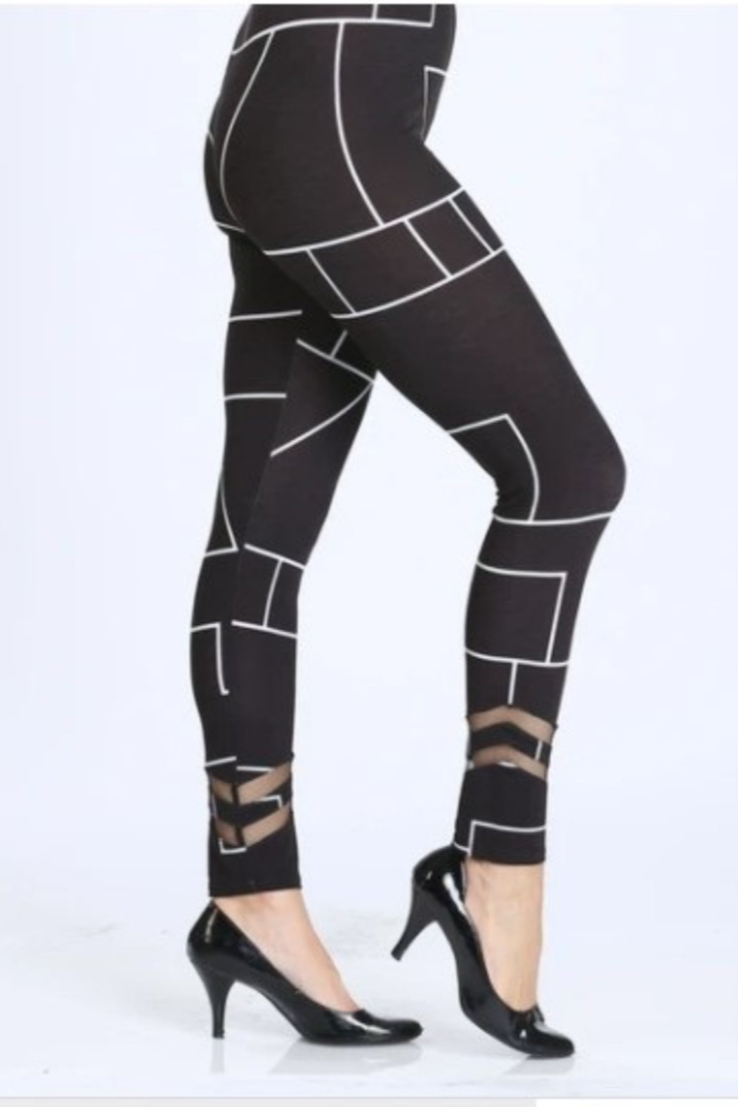 IC Collection Geometric Leggings - Front Full Image