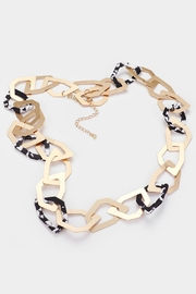 Embellish Geometric Link Necklace - Front full body