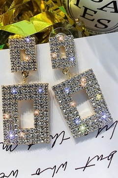 Paparazzi Geometric Luxury Earrings - Alternate List Image
