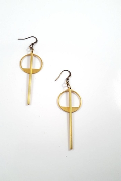 Dynamo Geometric Minimalist Earrings - Alternate List Image