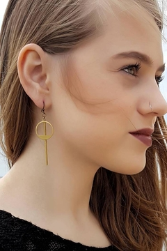 Dynamo Geometric Minimalist Earrings - Product List Image