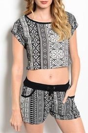 Adore Clothes & More Geometric Pattern Shorts - Product Mini Image