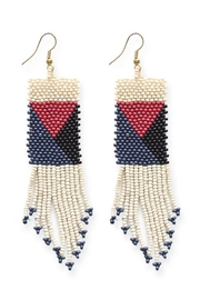 Ink + Alloy Geometric Seed Bead Earring - Product Mini Image
