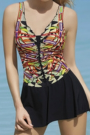 Sunflair Beach Fashion Geometric Skirted Swimsuit - Product Mini Image