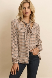 dress forum Geometric Tie-Collared Blouse - Product Mini Image