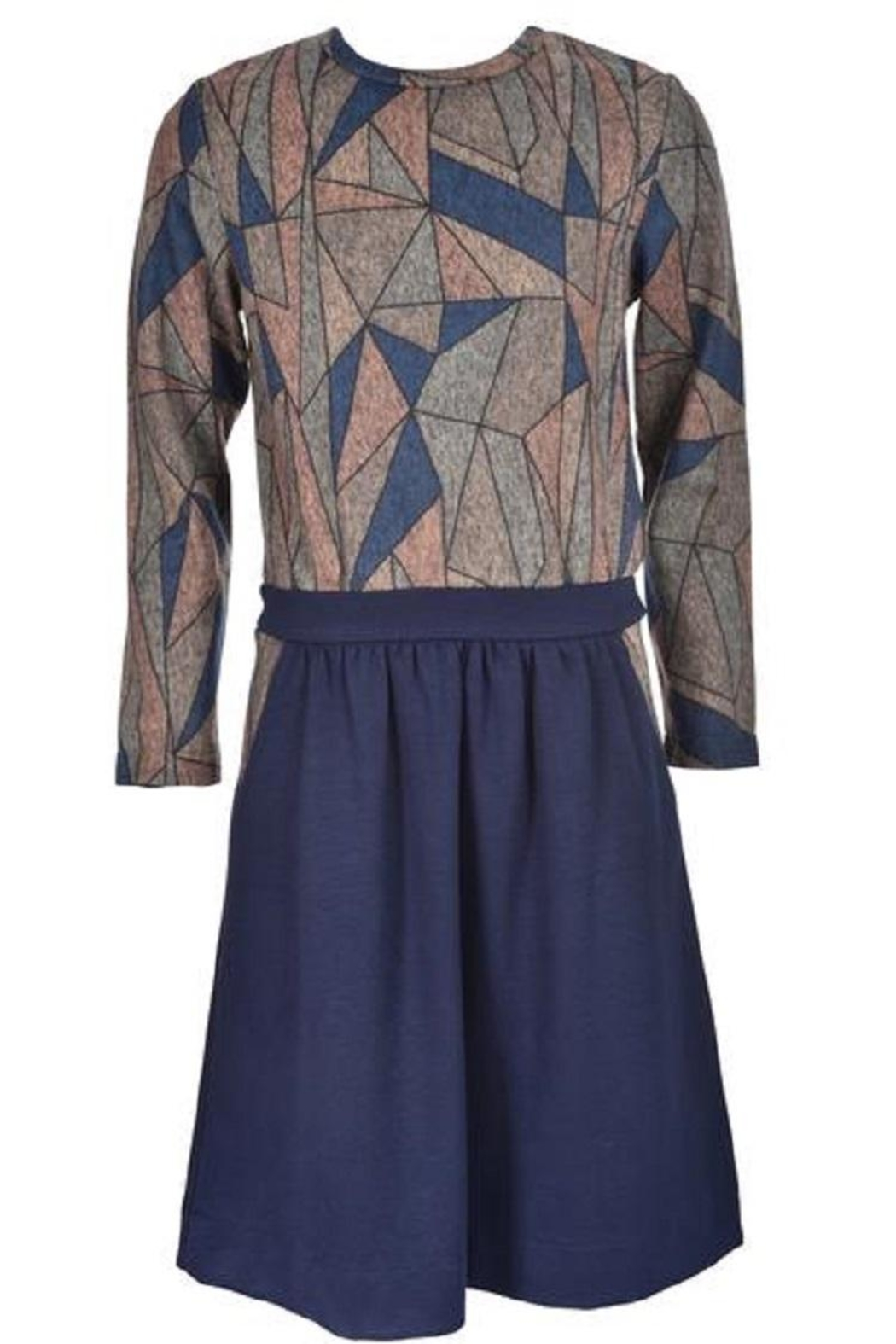Blue Violet Geometric Top - Front Cropped Image