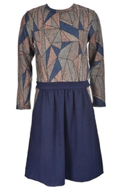 Blue Violet Geometric Top - Product Mini Image