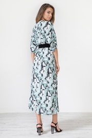 Urban Touch Geometricprint Mididress Withbelt - Side cropped