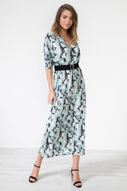 Urban Touch Geometricprint Mididress Withbelt - Front full body