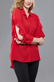 Insight Georgette Red Ruffle - Product Mini Image