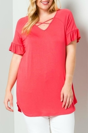 B.E. Georgia Coral Top - Product Mini Image