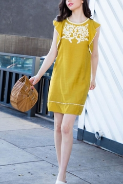 THML Clothing Georgia Embroidered Dress - Product List Image