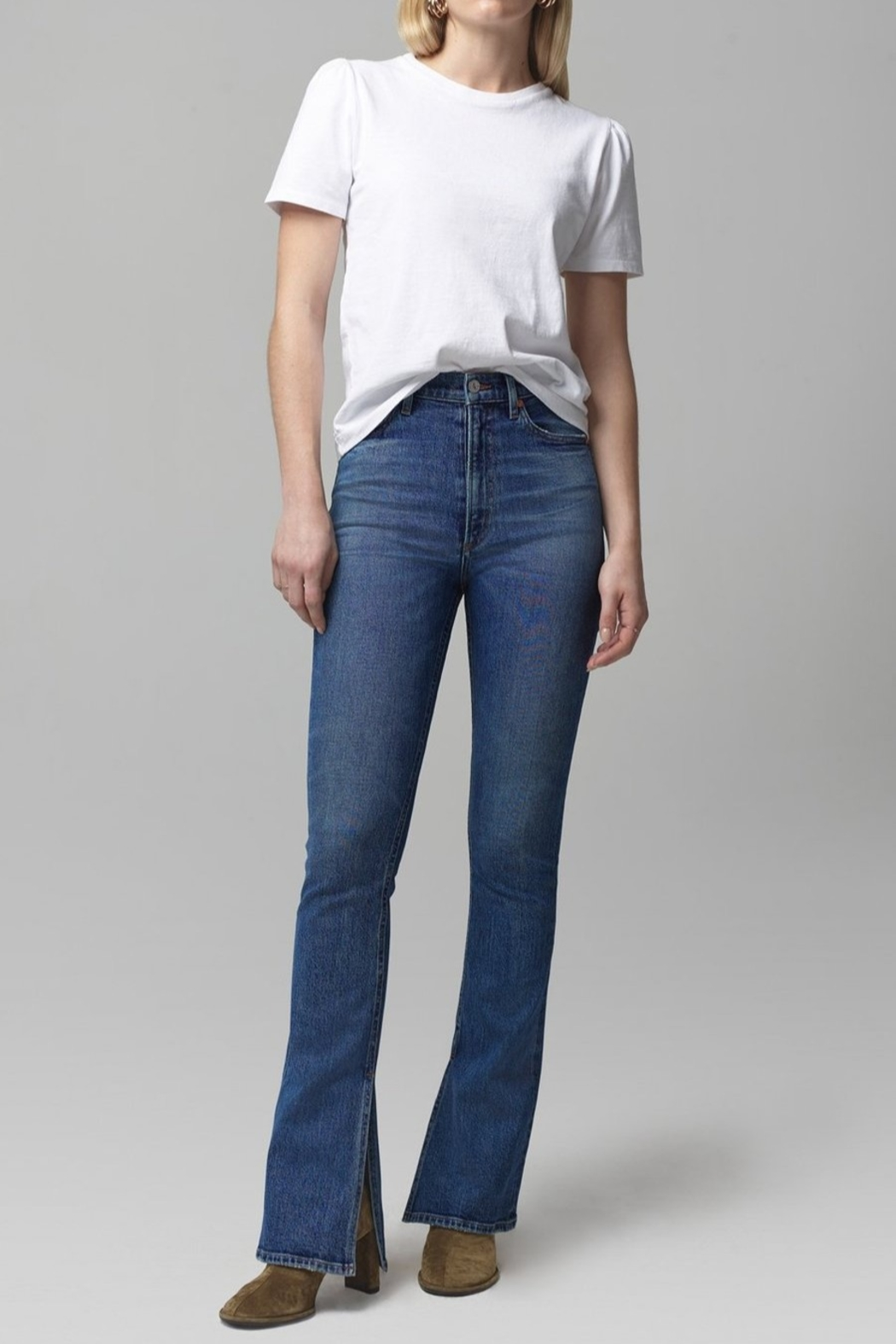 Citizens of Humanity Georgia Flare Jeans in Heist - Front Cropped Image